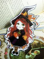 Bookmark - Little cup of mischief - by Morrigan22