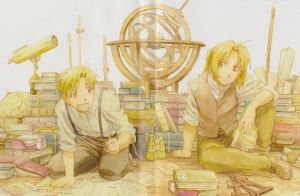 Edward and Alphonse Elric by mindlesspupet