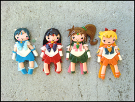 Inner Senshi Charms by GrandmaThunderpants