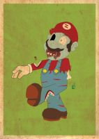 Zombie Mario Poster by Procastinating