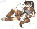 Kouga and his children by TheMadWoman-Ellie