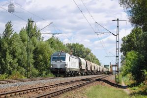 193 924 with a freight train near Gyor by morpheus880223
