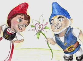 Gnomeo and Juliet by little-hi-two