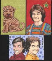 Charity Sketch Cards 2011 by angelacapel
