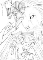 The Lion, the Witch and the Wardrobe inked by TriaElf9