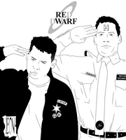 Rimmer and Lister by DarkFurianX
