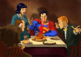 TLIID Superman in Supper at Emmaus by Nick-Perks