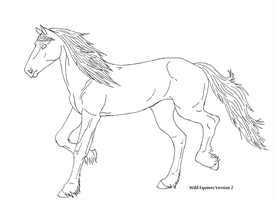 Friesian Lineart by Theliquidspoon