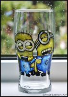 Minion Beer Glass by Bonniemarie