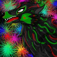 Neon Wolf by SolemnSmile