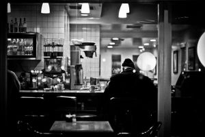 Man in Diner by Adam-Pieratt