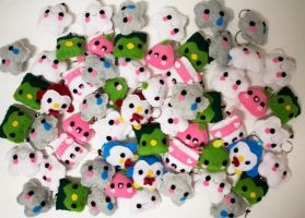 Lots of Kawaii Keychains by CosmiCosmos