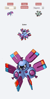Pokemon Fusion Sprite - ZUTON by darksilvania