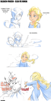 Bleach - Frozen Elsa VS Rukia by Blychee