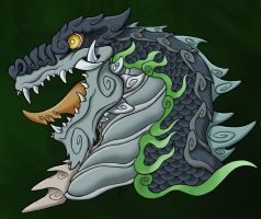 Zilla Jr traditional style colored by MaximumOverdrive