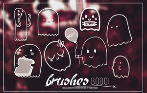Booo!Brushes by GrillalbSakuritha