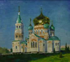 Omsk Cathedral by MONAROZ-Art