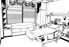 hospital room by SaintAsh