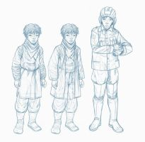 Alisher and Hamid 1st clothes by kaztorama