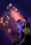Request - Liara and Shepard by Greendelle