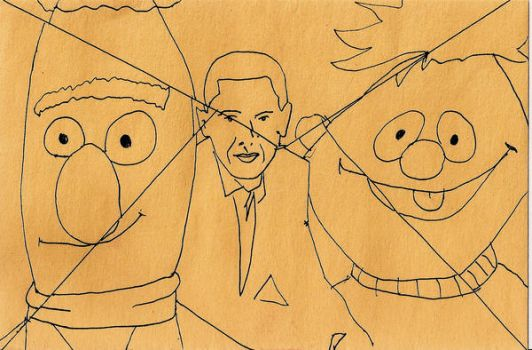 Bert, Barack and Ernie by andystrong