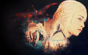 A Dragon Is No Slave :. Daenerys Targaryen by Sacrilence