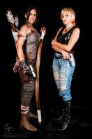Lara Croft and Aya Brea by Jessie-TR