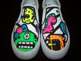 Custom Shoes: Monsters by kustom-kicks