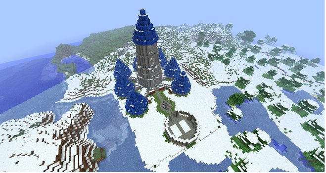 Mages Tower MINECRAFT by monkey100132