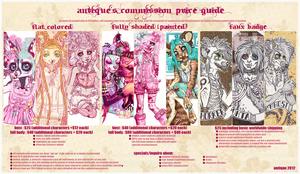 antique's commission price guide by sugarpillRx