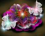 Fractal Flower and Butterfly by tinca2