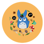 Blue Totoro button by Shinyako