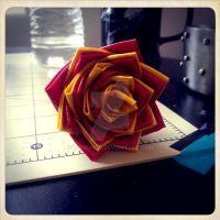 yellow and red flower pen for sale by lokifan50