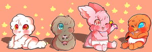 Fluffy Babies of Elmore by karsisMF97