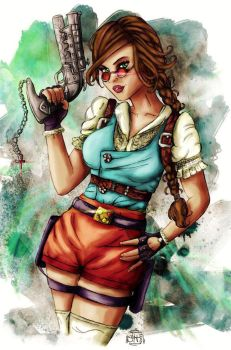 Steampunk Lara Croft by Forty-Fathoms