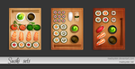 Sushi sets by MadOyster