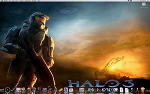 Leopard Desktop with my icons by scartissuemark