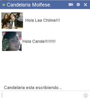 Chat falso de Candelaria Molfese by Kamiitinista