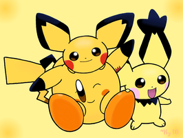 Mellow Yellow - Pika-Kirby AT by water-kirby