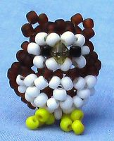Beaded owl by Craftcove