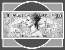 PRINCESS LEIA Republic Credits by GOODGIRLART