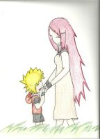 Naruto and Kushina OwO by blueglacier19