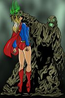 Supergirl vs. Decay - Commis by mhunt