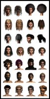 Low poly hair compilation by toneloperu