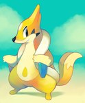 Shiny Floatzel by HappyCrumble