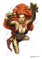 Collab: Tigra by theartofraku