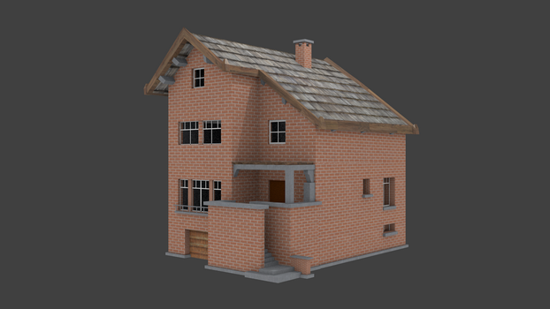Game Asset house (lowpoly) by RakuNana