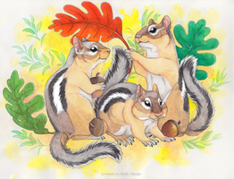 Chipmunk family by CunningFox