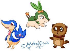 My Version of new Starters by MelodyCrystel
