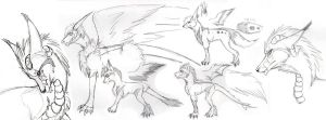 Kechi and J Sketch Dump by KTdragon